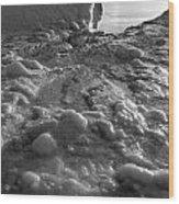 Lake Michigan Ice Xii Wood Print