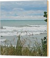 Lake Michigan In Racine Wood Print