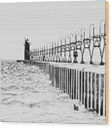 Lake Michigan Lighthouse Wood Print