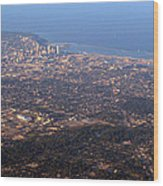 Lake Michigan Shoreline - Downtown Milwaukee  Wood Print