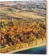 Lake Michigan Shoreline In Autumn Wood Print