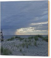 Lake Michigan Sky Wood Print