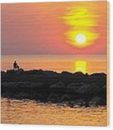 Lake Michigan Sunset Wood Print