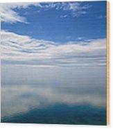 Lake Michigan's Lost Horizon Wood Print