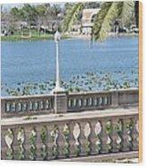 Lake Mirror Promenade Wood Print