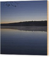 Lake Nockamixon Just Before Sunrise Wood Print