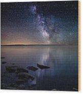 Lake Oahe Wood Print