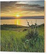 Lake Oahe Sunset Wood Print