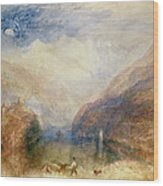 Lake Of Brienz Wood Print