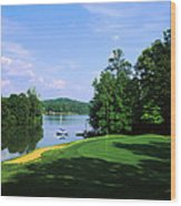 Lake On A Golf Course, Legend Course Wood Print