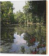 Lake On The Plantation Wood Print