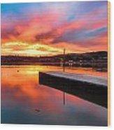 Lake Oneil Sunset Wood Print