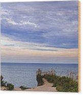 Lake Ontario At Scarborough Bluffs Wood Print