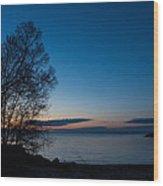 Lake Ontario Blue Hour Wood Print