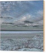 Lake Ontario Snow Wood Print