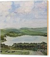 Lake Parker In Glover Wood Print