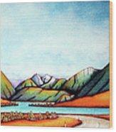 Lake Pearson 1999 Si Nz Wood Print