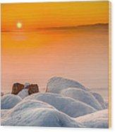 Lake Pepin Winter Sunrise Wood Print