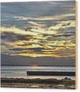 Lake Pontchartrain Sunset 2 Wood Print