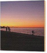 Lake Pontchartrain Sunset Wood Print