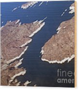 Lake Mead From Above Wood Print