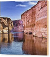 Lake Powell Antelope Canyon Wood Print
