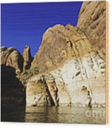Lake Powell Rock And Sky Wood Print by Thomas R Fletcher