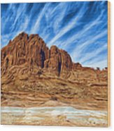 Lake Powell Rocks Wood Print by Ayse Deniz