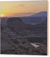 Lake Powell Sunrise  Wood Print