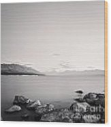 Lake Pukaki And Mount Cook New Zealand. Wood Print by Colin and Linda McKie