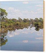 Lake Reflections 01 Wood Print