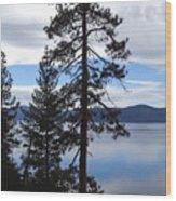 Lake Reflections At Tahoe Wood Print