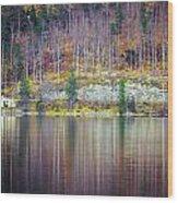 Lake Reflections Wood Print