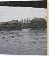 Lake Resort Framed From A Houseboat Wood Print