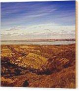 Lake Sakakawea North Dakota Wood Print