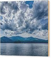 Lake Santeetlah In Great Smoky Mountains Nc Wood Print