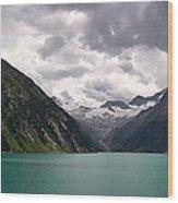 Lake Schlegeis Wood Print