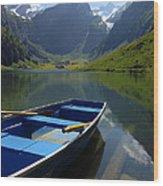 Lake Seealpsee Alpstein Canton Appenzell Switzerland Wood Print