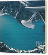 Lake Seen From A Seaplane Wood Print