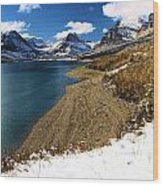 Lake Sherburne Wood Print