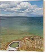 Lake Shore Geyser In West Thumb Geyser Basin Wood Print