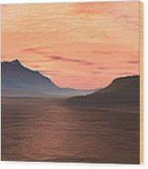 Lake Sunset 1 Wood Print