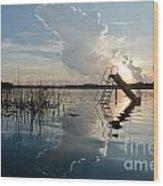 Lake Sunset 5 Wood Print