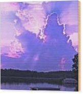 Lake Sunset II Wood Print