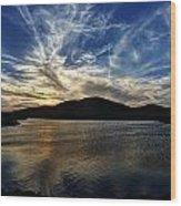 Lake Sunset In The Wichita Mountains Wood Print