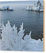 Lake Superior Blues Wood Print