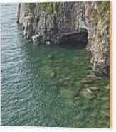 Lake Superior Cliff Scene 7 Wood Print