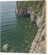 Lake Superior Cliff Scene 9 Wood Print