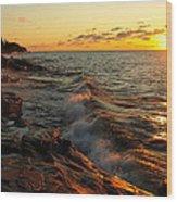 Lake Superior Dawn Wood Print
