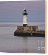 Lake Superior Lighthouse Wood Print